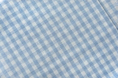 Checked blue and white textile Royalty Free Stock Image