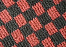 Checked car mat Royalty Free Stock Images