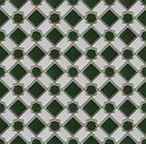 Checked ceramic tiles Stock Photos
