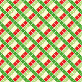 Checked Christmas background. Checked red and green Christmas background, plus seamless pattern included in swatch palette royalty free illustration
