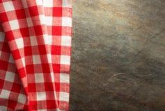 Checked cloth napkin Royalty Free Stock Photos