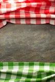 Checked cloth napkin Royalty Free Stock Photography