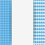 Checked Cloth Oblong Banner Oktoberfest Royalty Free Stock Image