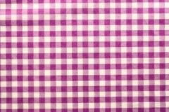 Checked cloth Stock Photo