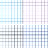 Checked Copy-Book Sheet. Cell Template. Vector Set. Blank Checked Copy-Book Sheet. Cell Template in Different Colors. Vector Set Stock Images
