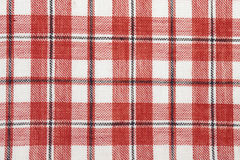 Checked cotton fabric Royalty Free Stock Photography