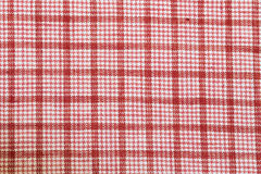 Checked cotton fabric Royalty Free Stock Images