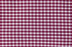 Checked Cotton Shirt. Macro view of a red and white checkered cotton shirt Royalty Free Stock Photo