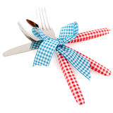 Checked cutlery Royalty Free Stock Photography