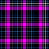 Diamond tartan plaid scotch kilt fabric seamless pattern texture background - color black, hot pink, magenta, blue and. Checked diamond tartan plaid scotch kilt royalty free illustration