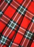 Checked fabric. Bright checked scottish fabric.  Background Stock Photo