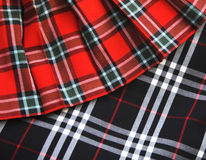 Checked fabric. Bright checked scottish fabric.  Background Stock Photography