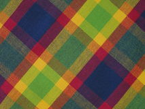Checked fabric. Colorful checked fabric suitable as background Royalty Free Stock Photography
