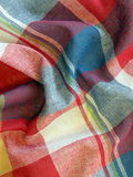 Checked fabric. Colorful checked fabric abstract suitable as background Royalty Free Stock Photo