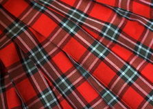 Checked fabric. The bright scottish checked fabric Stock Images
