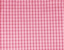 Checked fabric background Stock Photo