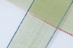 Checked fabric background Royalty Free Stock Photos