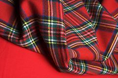 Checked fabric. The bright scottish checked fabric. Bright nackground Stock Images