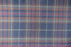 Checked fabric in quiet colours. From above Stock Photography