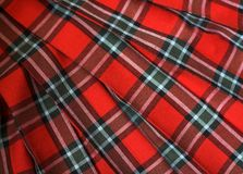 Checked fabric. Slytish background. The bright scottish checked fabric Royalty Free Stock Photos
