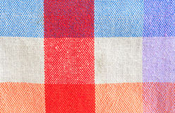 Checked fabric tablecloth Royalty Free Stock Photos