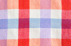 Checked fabric tablecloth. Colorful checked fabric tablecloth texture Stock Image