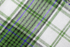 Checked fabric tecture Stock Photo