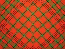Checked fabric texture. Red checked fabric texture suitable as background Stock Photography