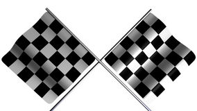 Checked Flag. Crossed checkered flag simulating the end or goal Royalty Free Stock Images