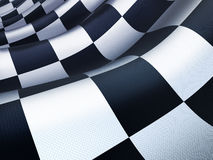 Checked flag wave Stock Images