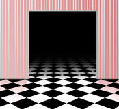 Checked floor. Background of black and white checked floor Royalty Free Stock Photo