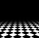 Checked floor. Background of black and white checked floor Royalty Free Stock Photos