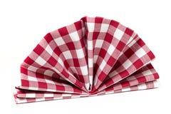 Checked folded napkin Stock Photography