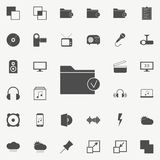 checked folder icon. web icons universal set for web and mobile royalty free illustration