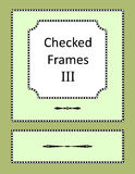 Checked frames, borders and page design elements Stock Photography