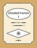 Checked frames, borders and page design elements Royalty Free Stock Images