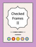 Checked frames, borders and page design elements Royalty Free Stock Photography