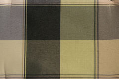 Checked green and beige textile Stock Photography
