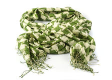 Checked green scarf  Stock Photo
