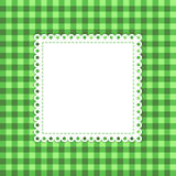 Checked green vector template. Royalty Free Stock Images