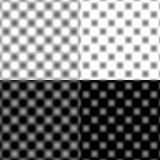 Checked Grid Circular Blur - Black & White & Grey stock photography