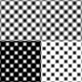 Checked Grid Circular Blur - Black & White Stock Photo