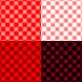 Checked Grid Circular Blur - Red & Black & White Stock Photos