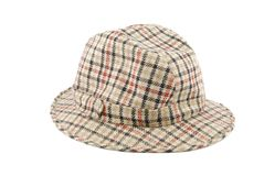 Checked hat Royalty Free Stock Image