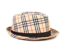 Checked hat. Stock Images