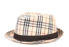Checked hat. Stock Photo