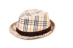 Checked hat. Stock Image