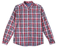 Checked male shirt isolated. Royalty Free Stock Photos