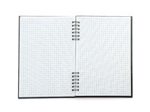 Checked note book paper Stock Photo