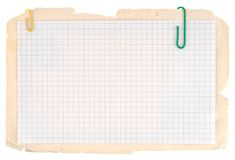 Checked notebook paper Stock Images